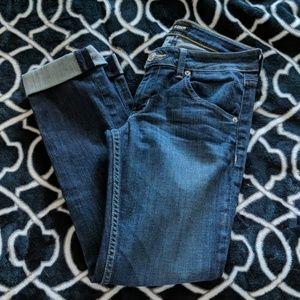 Hudson Bacara Crop Straight Cuffed Jeans Size 26